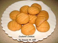 Custard Cookies - Fauzia's Kitchen Fun Biscuit Cake, Biscuit Cookies, Biscuit Recipe, Yummy Cookies, Cookie Desserts, Cookie Recipes, Dessert Recipes, Custard Cookies, Spicy Recipes