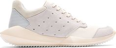Rick Owens - White Sculpted Sole adidas Edition Sneakers
