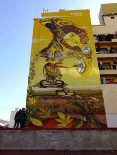 Amazing mural in Chile by Unkolordistinto Reverse Graffiti, Graffiti Characters, Graffiti Painting, Installation Art, Art Installations, Street Signs, Street Art Graffiti, Land Art, Public Art