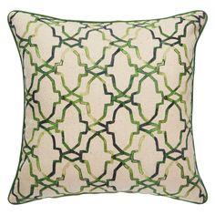 Jaipur Verdigris Fluorite Green Throw Pillow @LaylaGrayce