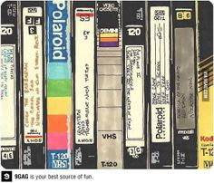 They were the perfect way to record a show.  The 90s!