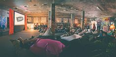 Pillow Cinema in Shoreditch. Bring your own pillow and relax on a beanbag. (c) Jussi Hellsten / Flow Festival