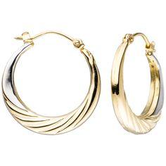 Schöne Gold-Ohrringe: Creolen aus Gold bicolor
