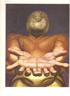 """""""A nossa Imagem"""" A obra representa o homem de hoje, grande em poder porém confuso e inseguro sobre o seu futuro 1947 Museu Nacional de Bellas Artes - México"""