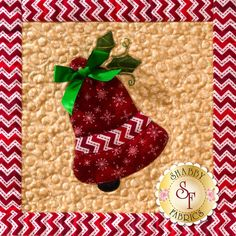 Ring in the holidays with this appliqued bell from our Christmas Keepsakes Block of the Month wall hanging! Sign up for the 10-month program here: https://www.shabbyfabrics.com/-Christmas-Keepsakes-BOM-Pre-fusedLaser-P30953.aspx
