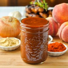 Honey Peach BBQ Sauce - bring the flavour of summer peaches to a tangy barbecue sauce. Terrific for ribs, pulled pork and chicken, especially grilled wings.