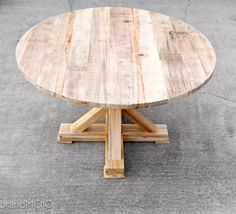 What about this white oak table instead of the pine? I'm thinking the pine needs to either be stained darker or the base needs to be painted something with a lot of contrast to the oak floor.