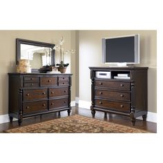 Key Town Dresser, Mirror and Media Chest