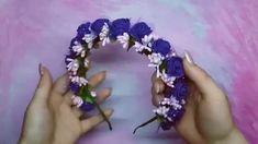 Diy Wedding Flowers, Diy Flowers, Fabric Flowers, Paper Flowers, Diy Hair Bows, Diy Bow, Diy Ribbon, Diy Flower Crown, Diy Headband