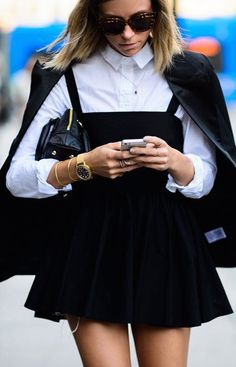 The pinafore is back–and just in time to be fashion's favorite fall trend