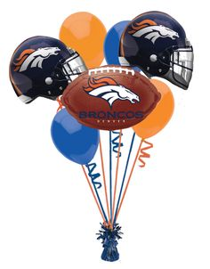 Ordered Our Denver Broncos Super Bowl Balloon Bouquet!!!