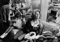 Elizabeth Taylor with her daughter Liza Todd, Warner Brothers, 1965, by Bob Willoughby