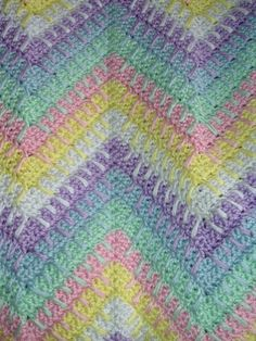 Handmade, Crochet, Baby, Afghan, Rainbow, Ripple, Blanket by Kraftii1 on Etsy