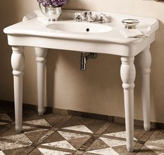 Creating Illusion Of Belle Epoque Era With Belle Epoque Two Spindle Legs  Widespread Sink | The