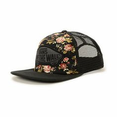 When your outfit calls for a hat reach for the stylish Vans Girls Beach Girl Floral trucker hat.