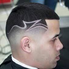 Cortes de cabello con rayas criminales