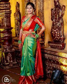 Bridal Jewelry, Gold Jewelry, Gold Necklace, Bridal Silk Saree, Silk Sarees, Tamil Brides, Saree Collection, Indian Bridal, Indian Jewelry