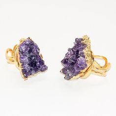 Geode Ring Amethyst now featured on Fab.
