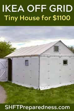 Have you been thinking about building your own off grid tiny house? Can you believe they have that at IKEA now, too? Seriously, IKEA has everything! Let's take a look. Off Grid Tiny House, Off Grid Cabin, Tiny House Cabin, Tiny House Living, Tiny House Plans, Tiny House Design, Off The Grid Homes, Farm House, Survival Shelter