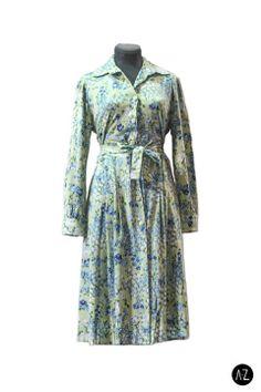 Vestido vintage tonos celestes #fashion