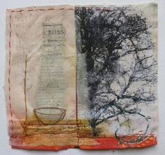 magpie of the mind-cas holmes: Entering Autumn,Leaving 'Spring' Textile Fiber Art, Textile Artists, Collage Artists, Mix Media, Mixed Media Art, Square Drawing, Cas Holmes, Moleskine, Books Art