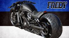⭐️ Harley Davidson Night Rod Special by Fredy Custom Bikes Harley Davidson Knucklehead, Harley Davidson Chopper, Vrod Harley, Black Harley Davidson, Harley Davidson Street Glide, Harley Davidson Motorcycles, Vrod Custom, Custom Baggers, Custom Harleys