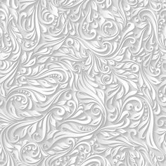 paper floral white seamless pattern