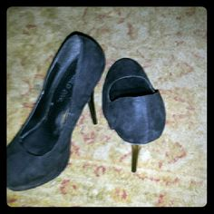 High heels All black comfort heels used Shoes Heels