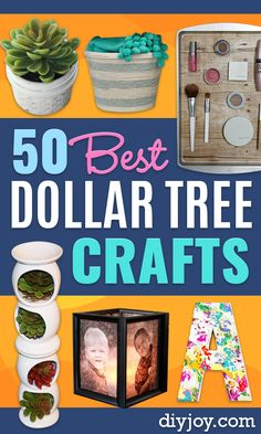 Dollar Tree Crafts - DIY Ideas and Crafts Projects From Dollar Tree Stores - Easy Organizing Project Tutorials and Home Decorations- Cheap Crafts to Make and Sell - Organization, Summer Parties, Christmas and Wedding Decor on A Budget - Fun Crafts for Kid Diy Crafts For Teens, Crafts To Make And Sell, Diy Home Crafts, Easy Diy Crafts, Decor Crafts, Fun Crafts, Craft Ideas, Sell Diy, Kids Diy
