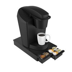 Mind Reader DBLTRY-BLK 'Ledge' 28 Capacity Single Serve Coffee Pod Double Drawer *** Continue to the product at the image link.