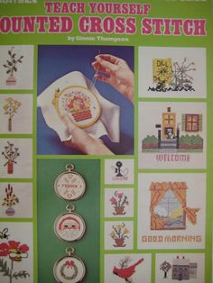 Counted Cross Stitch Pattern Leaflet  Teach Yourself by TooTooKute, $2.50