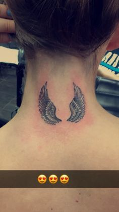 Angel Wings Tattoo Neck Ink Pinterest Tattoos Unique