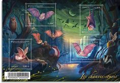 Bats on new French stamps   Stampnews.com