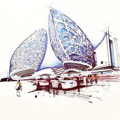 Building, sketch