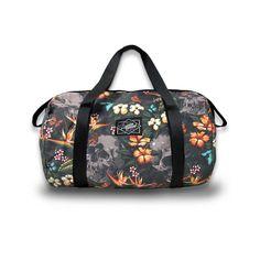 Aloha Duffle Bag #duffle #terror #scary #skulls #halloween #floral #WomenBags #aloha