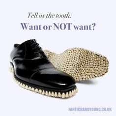 """YOU'VE HEARD OF """"putting your foot in your mouth,"""" but how about """"putting a mouth on your foot?"""" Would you wear these?"""