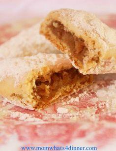 Apple Filled Cookies (Elma Kurabiye) on http://momwhats4dinner.com/apple-filled-cookies/