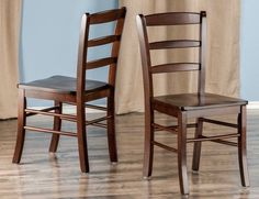 Ladderback Chairs Set Of 2 ladder Back Wood For Dining Room Kitchen Home Decor  #Winsome #ClassicLadderBack