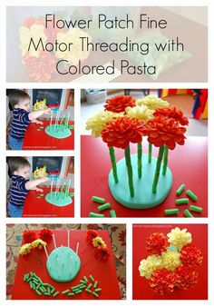 Minne-Mama: Flower Patch Fine Motor Threading Activity