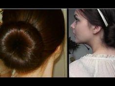 Sock bun secret revealed: giant bun & heat free curls!  this girl is so darling! It's fun to listen to her do the tutorial :o)