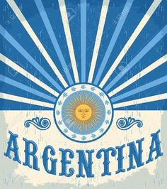 Argentina vintage card - poster vector illustration, argentina flag colors, grunge effects can be easily removed Illustration , Argentina Culture, Argentina Flag, Argentina Travel, Tango, Art Deco Logo, Sublimation Mugs, Vintage Travel Posters, Vintage Cards, American History