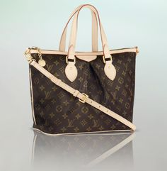 Soft and feminine pleats make the Palermo in fetching Monogram canvas a must have for sophisticated women. [Louis Vuitton]