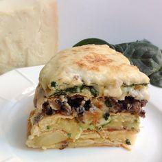 Pastel de tortillas #lacucharaazul #pasteltortillas #recetatortillas #omelettepie #omelettelayercake #tortillagrantinada