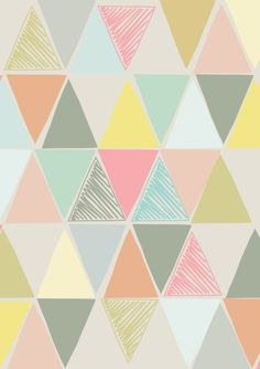 Sketchy Triangle Print | Etsy