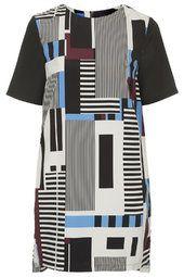 Stripe Print Tunic Dress