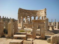 LIBYA – Market place in Leptis Magna