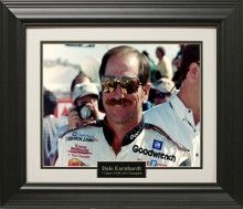 Dale Earnhardt Photo Matted and Framed