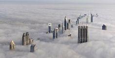 on the top of cloud, dubai