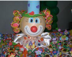 Manualidades Luna Clara: Fiesta de payasos Farm Themed Party, Carnival Themed Party, Farm Party, Circus Party Centerpieces, Balloon Decorations Party, Party Themes, First Birthday Parties, First Birthdays, Clown Party