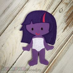 Twilight Girl Felt Paper Doll, Cloth Doll, Flat Doll, Unpaper Doll, Non Paper Doll, Children's Toy, Travel Toy